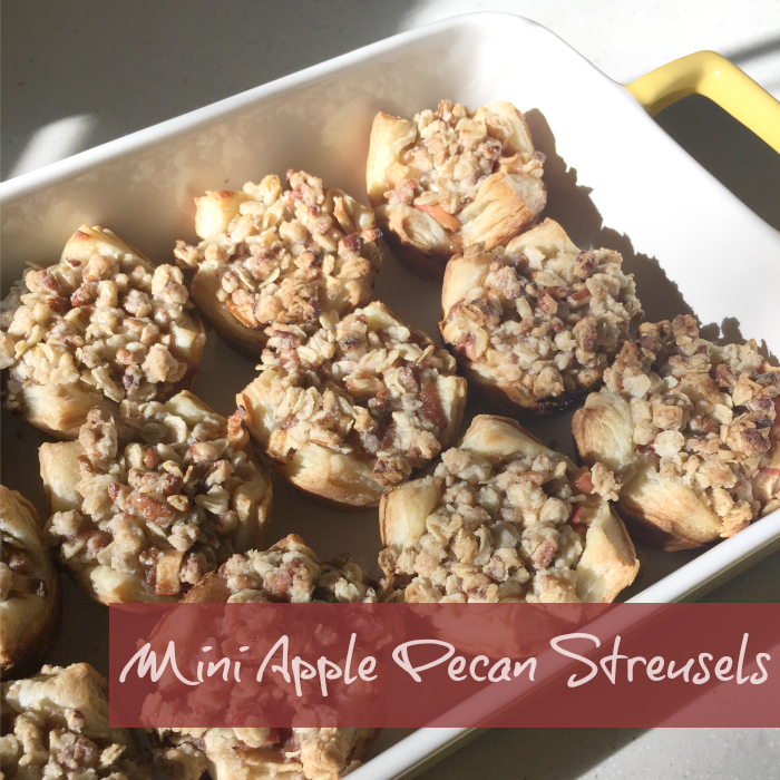Mini Apple Pecan Streusels