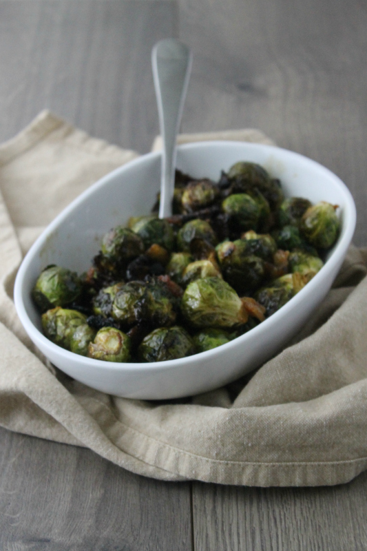 Brown Sugar & Bacon Roasted Brussels Sprouts
