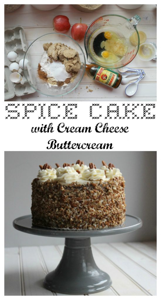 Spice Cake with Cream Cheese Buttercream Pin
